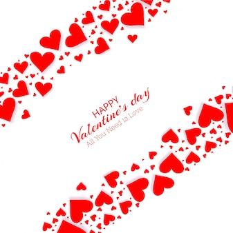 Diseño de tarjeta de día de san valentín hermoso corazón