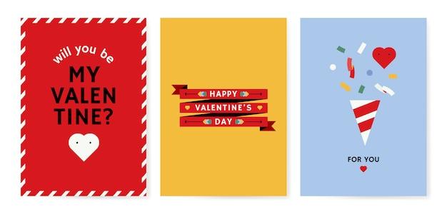 Diseño de tarjeta del día de san valentín