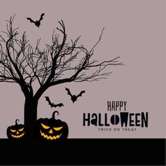 Diseño de tarjeta espeluznante aterrador feliz halloween