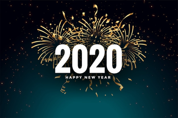 Diseño de tarjeta de felicitación de celebración feliz año nuevo abstracto