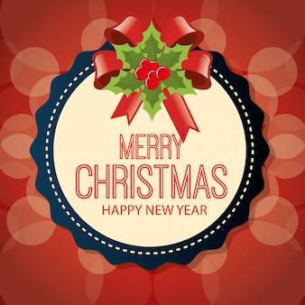 Diseño de tarjeta de felicitación de dibujos animados de feliz navidad