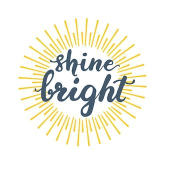 Diseño de tarjeta de felicitación con letras brillo brillante. ilustración vectorial