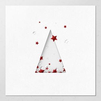 Diseño de tarjeta de felicitación de navidad de corte de papel