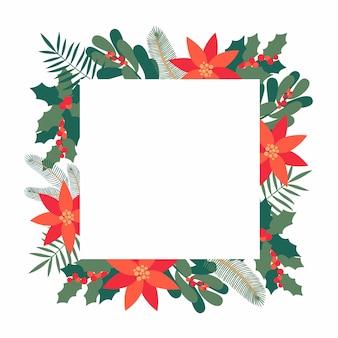 Diseño de tarjeta de felicitación de navidad con texto.