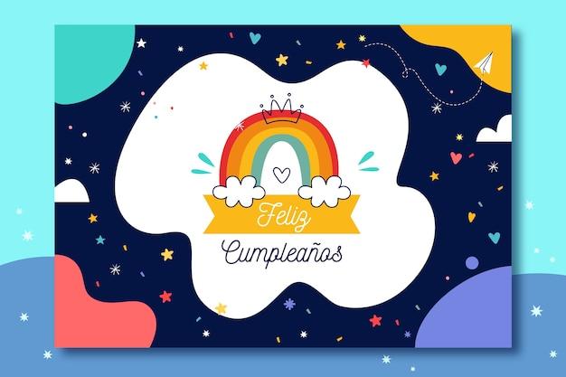 Diseño de tarjeta de feliz cumpleaños