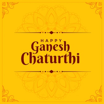 Diseño de tarjeta feliz festival ganesh chaturthi