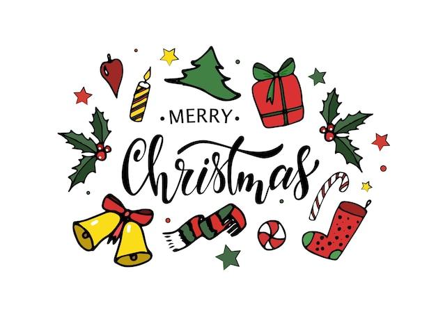 Diseño de tarjeta de feliz navidad