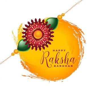 Diseño de tarjeta de festival indio feliz raksha bandhan
