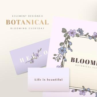 Diseño de tarjeta floral