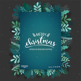 Diseño de tarjeta con iconos de feliz navidad