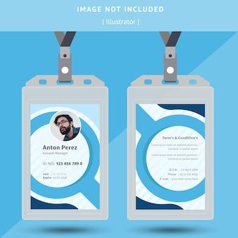 Diseño de tarjeta de identificación circular