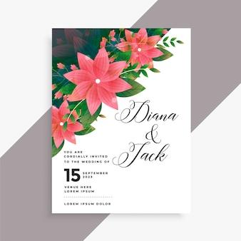 Diseño de tarjeta de invitación de boda preciosa