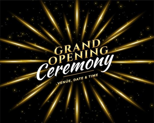 Diseño de tarjeta de invitación de celebración de ceremonia de inauguración