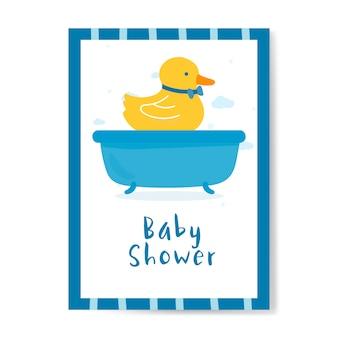 Diseño de tarjeta de invitación de ducha de bebé