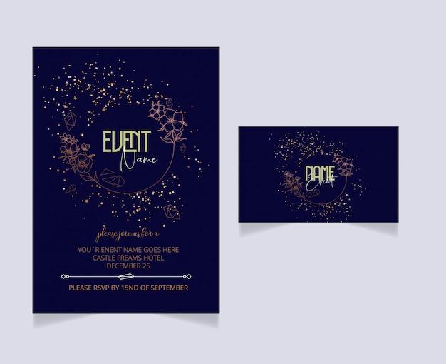 Diseño de tarjeta de invitación editable con