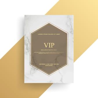 Diseño de tarjeta de invitación de lujo con textura dorada, plantilla de tarjeta dorada