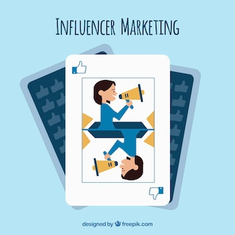 Diseño de tarjeta de juego de influencer marketing