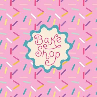 Diseño de tarjeta de menú vintage con estilo para tienda o restaurante de cupcakes