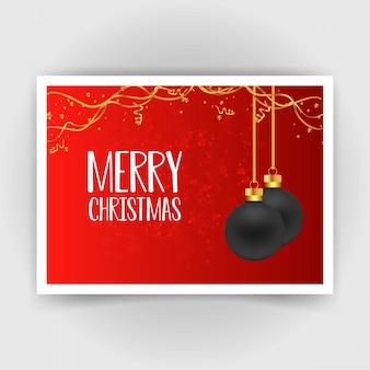 Diseño de tarjeta navideña con diseño elegante.