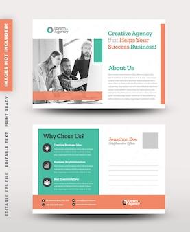 Diseño de tarjeta postal de negocios corporativos o ahorre la fecha tarjeta de invitación o correo directo diseño eddm