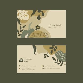 Diseño de tarjeta de presentación abstracta
