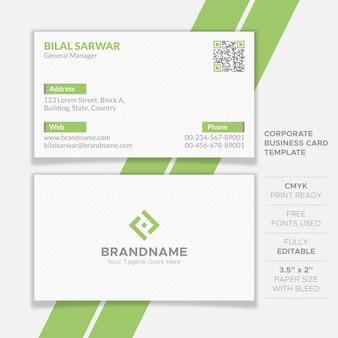 Diseño de tarjeta de presentación corporativa limpia