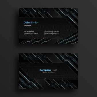 Diseño de tarjeta de presentación con diseño futurista