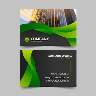 Diseño de tarjeta de presentación con foto