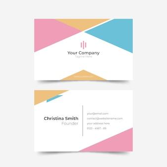 Diseño de la tarjeta de presentación del fundador de la compañía