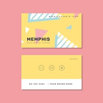 Diseño de tarjeta de presentación de memphis