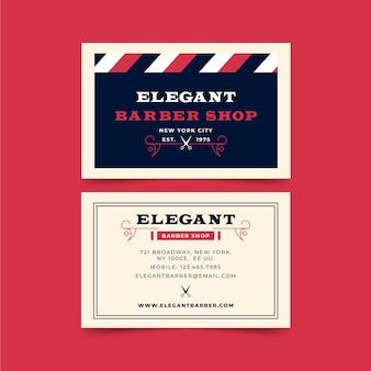 Diseño de tarjeta de presentación para peluquería