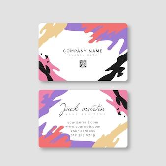 Diseño de tarjeta de presentación pintada a mano.
