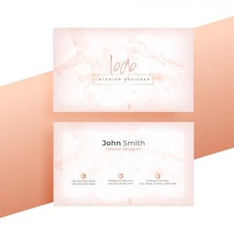Diseño de tarjeta de presentación.