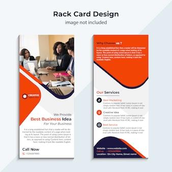 Diseño de tarjeta publicitaria