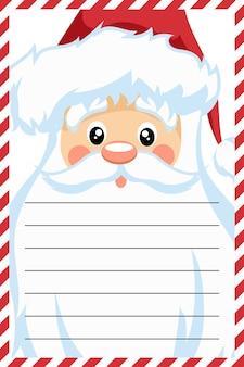 Diseño de tarjeta de santa claus para carta de navidad