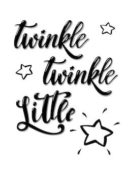 Diseño de la tarjeta 'twinkle twinkle little star'