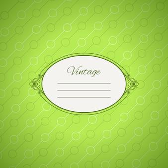 Diseño de tarjeta verde vintage