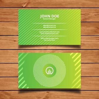 Diseño de tarjeta de visita abstracta verde vector gratuito
