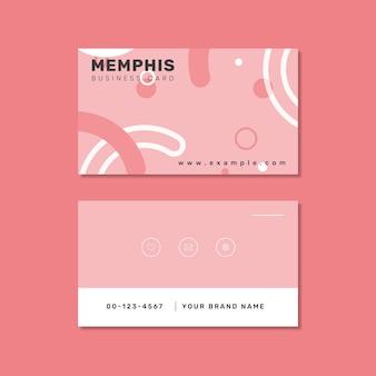 Diseño de tarjeta de visita al estilo de memphis