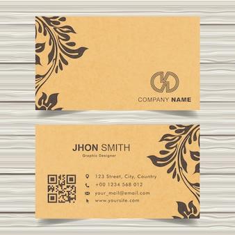 Diseño de tarjeta de visita amarilla real