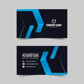 Diseño de tarjeta de visita azul moderno