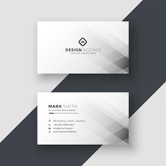 Diseño de tarjeta de visita blanca abstracta