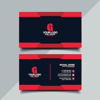 Diseño de tarjeta de visita de color rojo