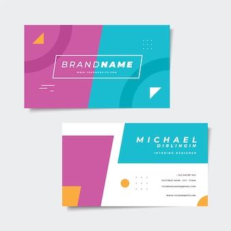 Diseño de tarjeta de visita colorida abstracta