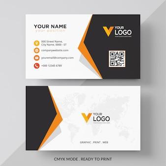 Diseño de tarjeta de visita corporativa elegante naranja