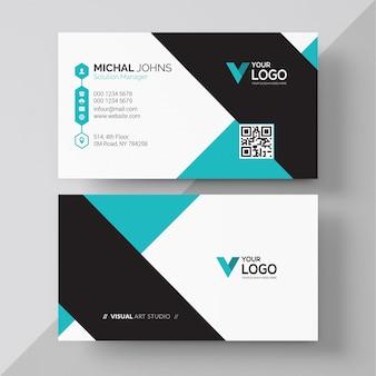 Diseño de tarjeta de visita corporativa moderna