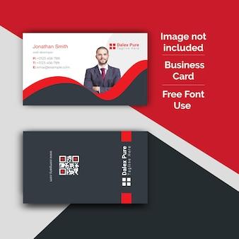 Diseño de tarjeta de visita corporativa y plantilla de tarjeta de visita de fotografía