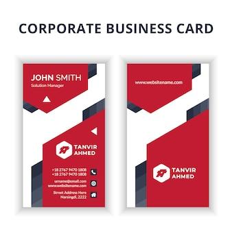 Diseño de tarjeta de visita corporativa