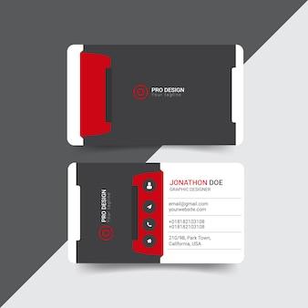 Diseño de tarjeta de visita creativa moderna
