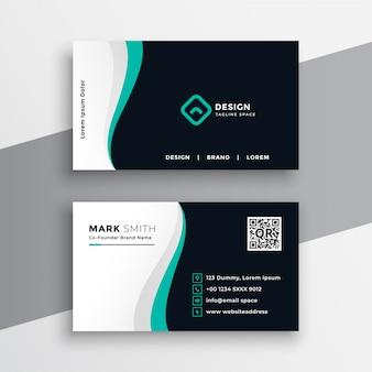 Diseño de tarjeta de visita de empresa creativa.